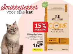 wellness core kattenvoer 15 300 1926 natuurlijke voeding proven natural food for adult cats www kat pet foods since grain free protein nutrition katten droogvoeding sterilised 1 fresh chicken with turkey recipe hairball control naturally supports info all weight