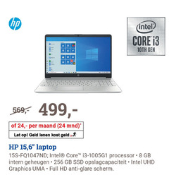 hp notebook 4 8 24 256 intel core maand mnd let geld 15 6 laptop processor gb intern geheugen ssd opslagcapaciteit graphics uma full hd anti glare scherm