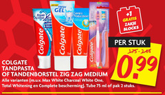 colgate tandpasta tandenborstel 2 new fresh gel triple action caries protection zigzag white breath strong protectie peter zakje blocks calcio free stuk 75ml x2 zig medium charcoal one total whitening bescherming tube ml pak stuks