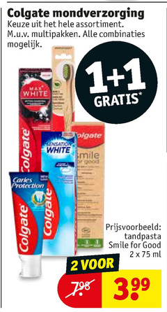 colgate tandenborstel tandpasta 1 2 mondverzorging assortiment multipakken combinaties white sensation smile protection for good ml