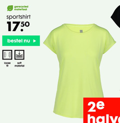 dames sport shirts gerecycled materiaal sportshirt loose fit soft material 2e halve