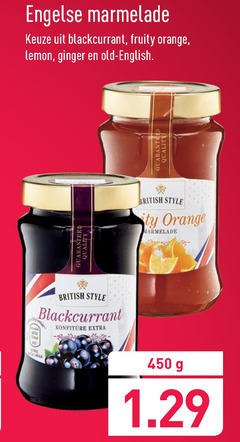 marmelade 450 engelse blackcurrant fruity orange lemon ginger old english quality british style guaranteed