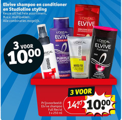 elvive studio line hairspray haargel conditioner shampoo 3 10 60 250 1000 studioline styling assortiment multipakken combinaties loreal color vin resist 00 real purple fix power full ml