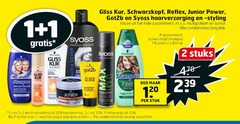 syoss shampoo 1 2 7 20 25 33 50 120 gliss kur schwarzkopf reflex junior power got2b haarverzorging styling assortiment multipakken combinaties kruiden ml stuks silver to glued union stuk 2e halve artikel combinatie