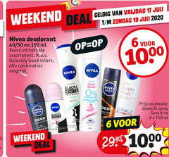 nivea deodorant 6 11 19 150 1000 2020 weekend deal vrijdag 40 50 ml assortiment naturally good rollers combinaties fresh black white invisible beauty elixir men spray sensitive