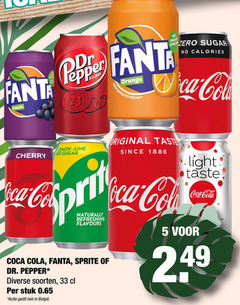 fanta dr pepper coca-cola sprite cola frisdrank 5 33 1886 lime zero sugar calories orange recipe original taste since cherry light coca naturally refreshing flavours soorten stuk