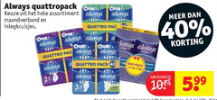 always inlegkruisjes maandverband 20 40 1024 quattropack assortiment quattro ag pack