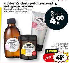 kruidvat huismerk gezichtsverzorging dagcreme gezichtsmaskers gezichtsreiniging 2 400 originals reiniging maskers assortiment combinaties masker dragon fruit ml