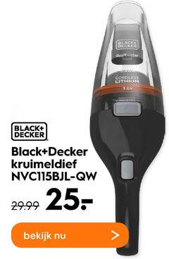 black and decker kruimelzuiger 25 dustbuster cordless lithium kruimeldief bekijk