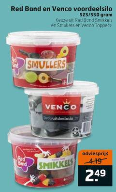 venco red band drop snoep smikkels smullers toppers