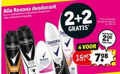 rexona deodorant 2 4 150 200 multipakken protection combinaties deospray tropical ml re stuk workout