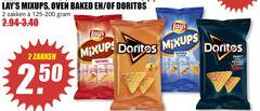 lays doritos zoutjes chips 2 oven baked zakken 125-200 paprika flavour macho cheese naturel sweet chilli pepper bugles word to 50