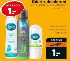 odorex deodorant 1 55 assortiment dry deoroller natural fresh ml men stuk