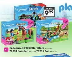 playmobil 18 28 stuk life country fun pc cadeauset kart race paarden zoo