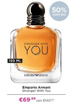 emporio armani eau de toilette 50 150 with you ml