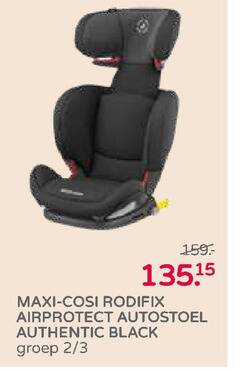 maxi-cosi autokinderzitje maxi cosi airprotect autostoel authentic black groep 2 3