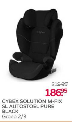 cybex autokinderzitje solution fix autostoel black groep 2 3