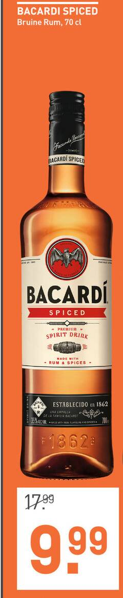 bacardi rum 26 35 spiced bruine premium spirit drink with spices la familia flavours and
