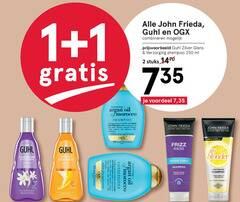 ogx guhl john frieda shampoo conditioner 1 2 13 80 100 250 combineren zilver glans verzorging ml stuks voordeel 7 35 argan oil morocco unique precious formula with helps to hair shaft discover restored strength shine softness and seductive silky free london paris new york highlighter shades us frizz go zilverglans intensieve dream curls blond haar olie lightening hart cleanses hydrates naturally curly for blonde abyss citrus chamomile technology souplesse complex zilveren aanzet zichtbaar volume sterker