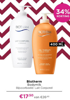 biotherm bodymilk 34 400 lait corporel ml pour le corps anti drying body white oil therapy baume nutri reconstituant replenishing treatment with apricot em peau skin parabenen free oz