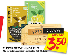 twinings clipper thee 20 25 350 design fresh zing organic lemon ginger natural fair co by appointment to tea coffee infusion twin 2 london original without earl aromatisch bergamote sachets builtjes combineren pak stuks