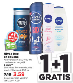 nivea douchegel deodorant 1 2 250 400 men crime dry sport pearl beauty creme soft fresh effect impact real life tested quick zegel shower gel body face hair minerals 250ml protection moede anti transpirant deo douche ml combineren stuks for vari