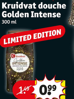 kruidvat huismerk douchegel 300 douche golden intense ml limited edition