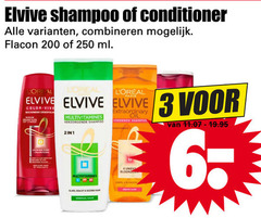 elvive shampoo conditioner 1 2 6 200 250 combineren flacon ml multivitamines extraordinary oil voedende verzorgende