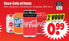 fanta coca-cola frisdrank cola 2 33 1886 coca combineren blik blikken zero sugar calories taste since new refreshing light