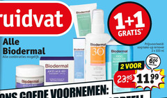 1 2 30 60 100 600 biodermal kruidvat oogmake-up up remover ml combinaties stuk voornemen