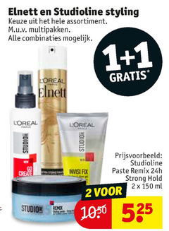 elnett studio line haargel hairspray 1 2 150 studioline styling assortiment multipakken combinaties loreal go create fix strong hold ml studios