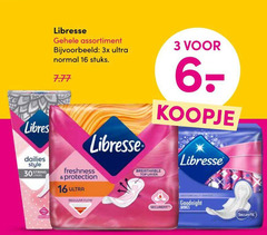 3 6 16 30 libresse assortiment 3x ultra normal stuks style string top layer freshness protection regular flow goodnight wings secure