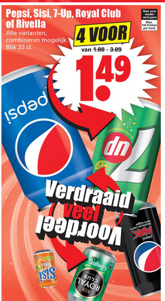 sisi pepsi rivella 7-up royal club frisdrank cola 4 7 31 33 up blikken combineren blik isd ii verdraaid 00 isis anno