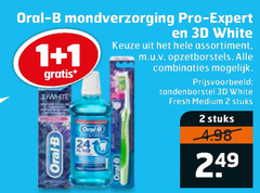 oral-b mondwater tandenborstel 1 2 oral b mondverzorging pro expert 3d white assortiment opzetborstels combinaties fresh medium stuks