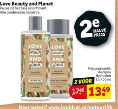 love beauty and planet shampoo 2 assortiment combinaties halve hydration ml natuurlijk