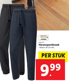 heren joggingbroek 100 chic standard crivit herensportbroek maten xxl stuk
