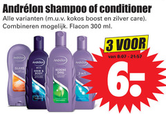 andrelon conditioner shampoo 1 2 3 6 300 kokos boost zilver care combineren flacon ml glans men hair body dag